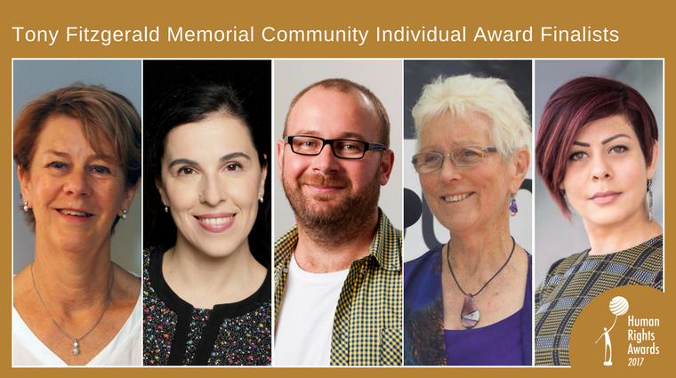 Composite of Community Individual Award finalist photos
