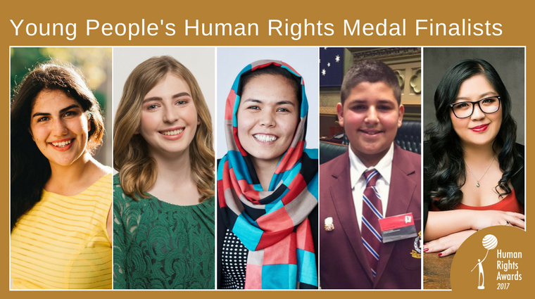 2017 HRA Young People Human Rights Medal