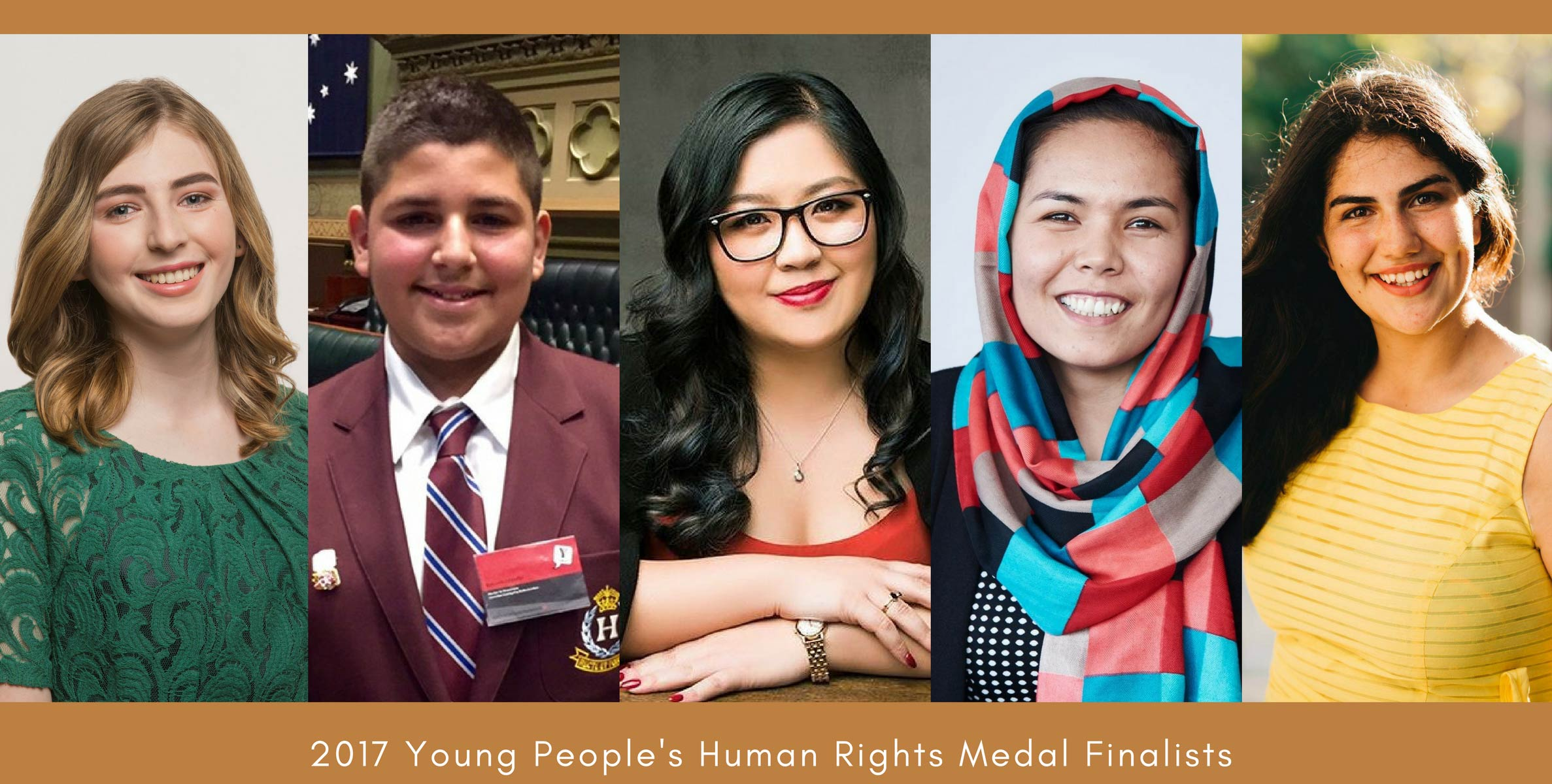 Finalists of the 2017 Young Persons Human Rights Medal