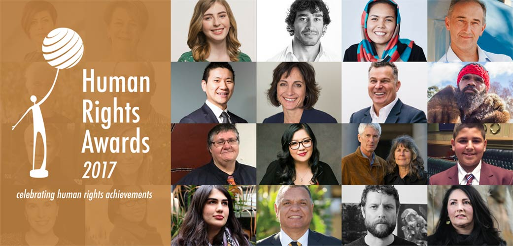 Collage of finalists of the Human Rights Awards