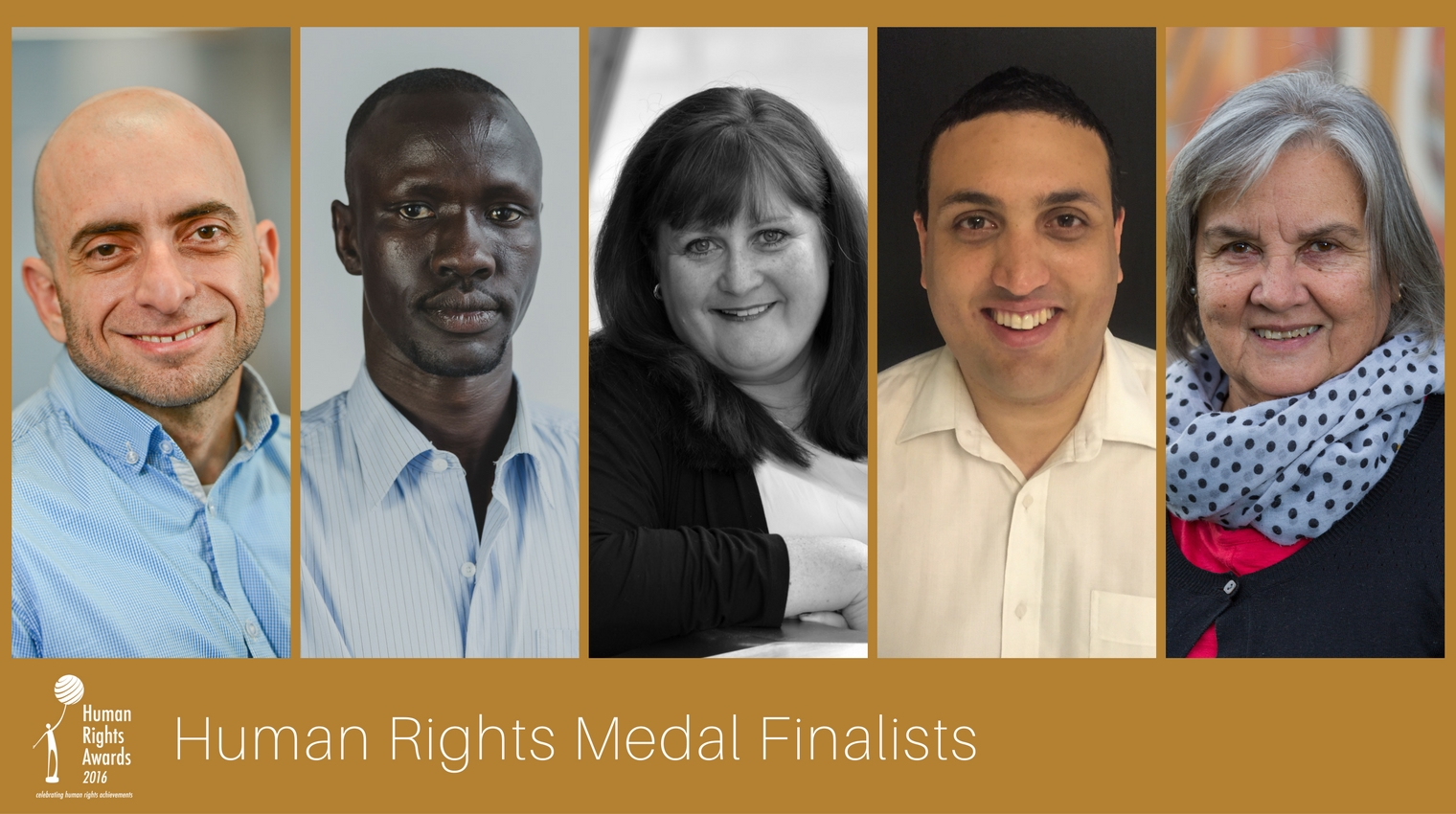 Composite of Human Rights Medal finalists 2016
