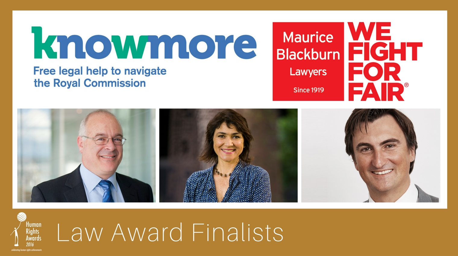 Composite of Law Award finalists 2016