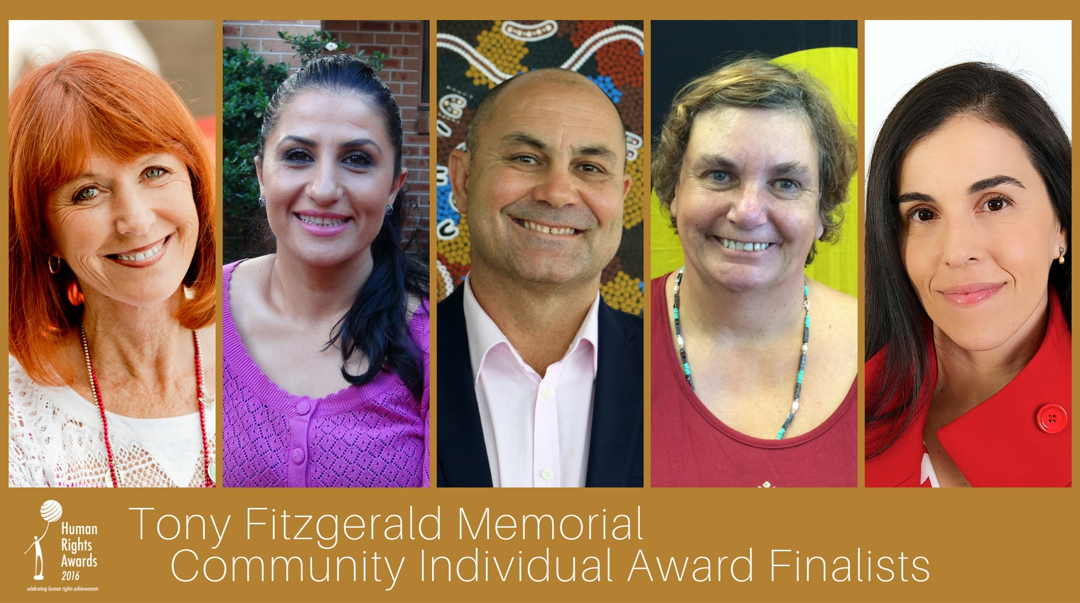 Composite of Tony Fitzgerald Memorial Community Individual Award finalists 2016
