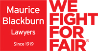 Maurice Blackburn Lawyers - We Fight For Fair logo