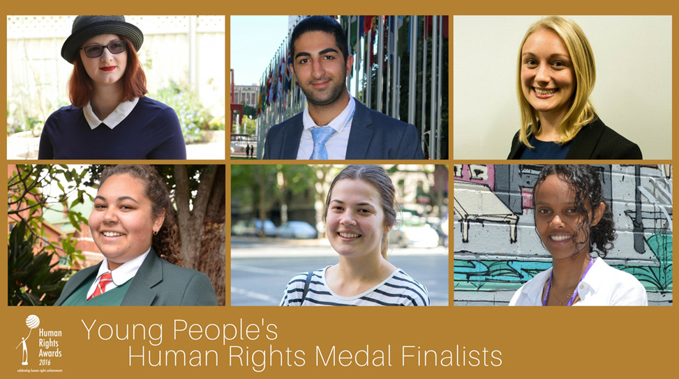 Composite of Young People's Human Rights Medal 2016