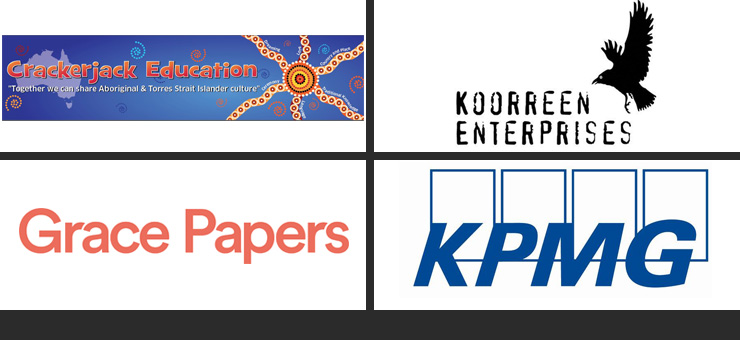 Logos of business award winners