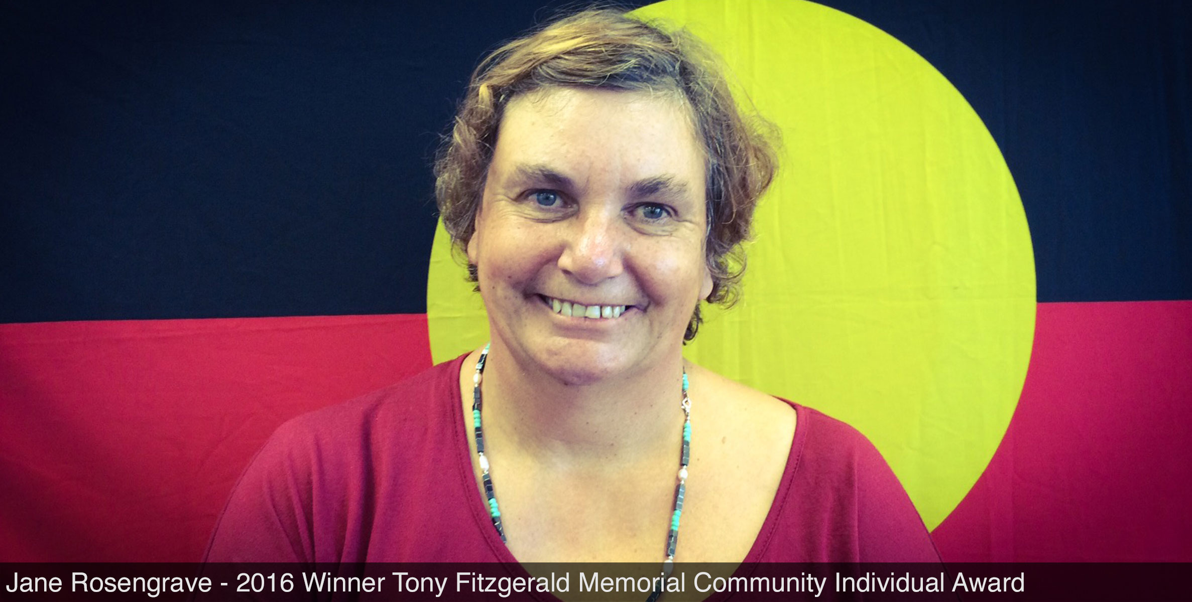 Jane Rosengrave - 2016 Winner Tony Fitzgerald Memorial Community Individual Award
