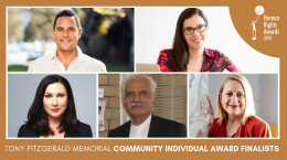 Composite of photos of the Community Individual Award Finalists