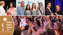 montage of 2017 human rights awards