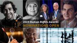 2019 Human Rights Awards Nominations open banner