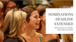 Nominations Deadline Extended - celebrating those who champion human rights and equality