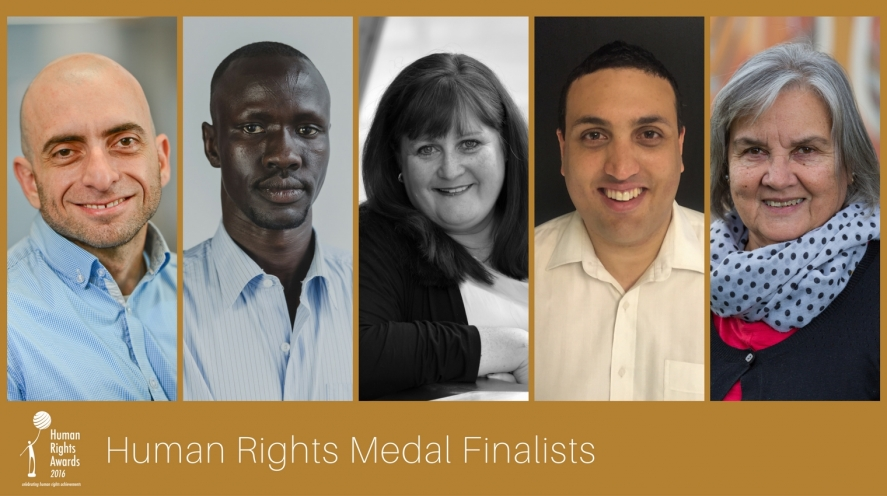 Composite of Human Rights Medal finalists