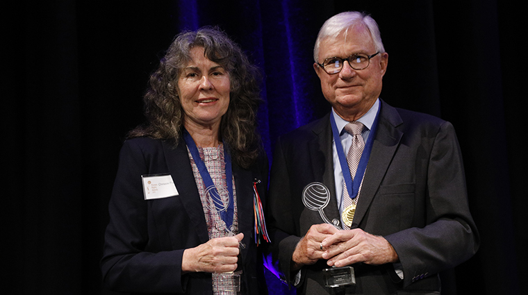 Justice Peter McClellan AM and Chrissie Foster