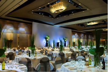 Photo of table setup in an event at The Westin hotel